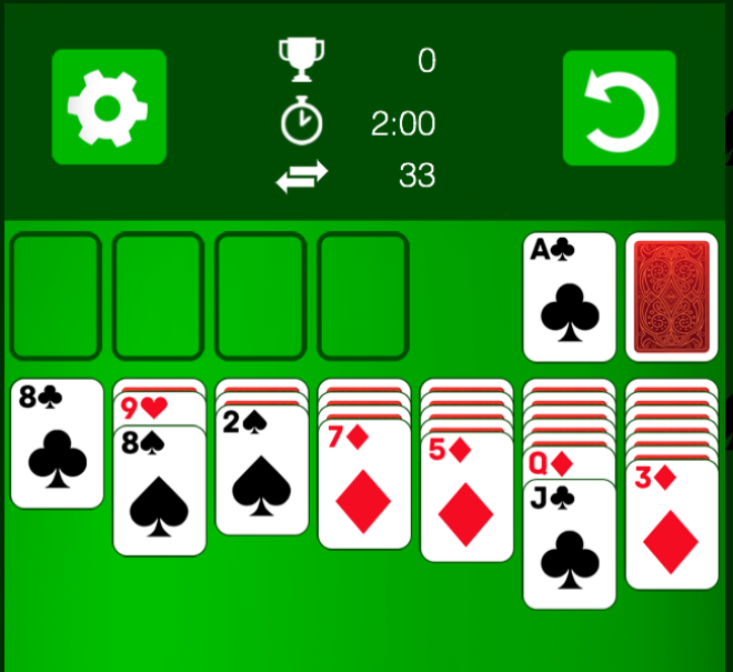 Solitaire-Gameplay